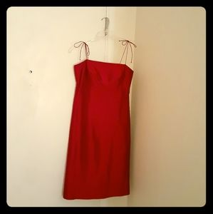 Pretty party dress! ARIA, red silk dress, size 4.